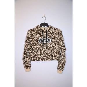 NWT H&M Size S Crop Animal Print Sweatshirt